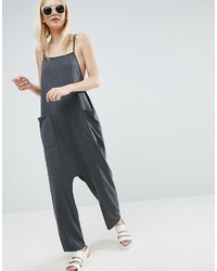 Jersey minimal jumpsuit with ties medium 3757923