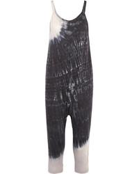 Tie dyed cotton blend jersey jumpsuit gray medium 3947239