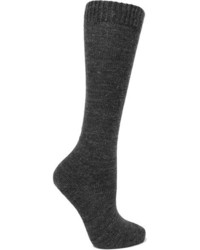 Adelia knitted knee socks dark gray medium 4394162