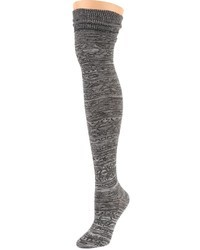 Sock it to me heather grey alpine knit over the knee socks medium 39943