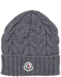 Moncler Wool Cable Knit Beanie Hat