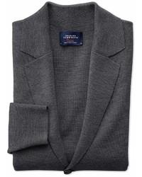 Charles Tyrwhitt Charcoal Merino Wool Blazer Size Large By