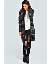 Boohoo bedra boucle marl knit maxi cardigan medium 144006