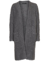 Petite grey knitted boucle cardigan 38 acrylic 30 wool 25 polyamide 7 polyester machine washable medium 144003