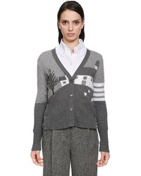 Thom Browne Grey House Cashmere Knit Cardigan