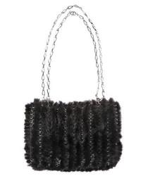 Charcoal Knit Clutch