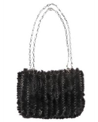 Paco rabanne iconic knitted mink shoulder bag medium 310252