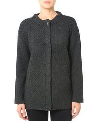 Charcoal Knit Coat