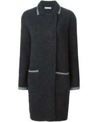 Double breasted knit coat medium 394486