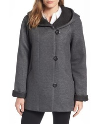 Hooded double face knit coat medium 4952777