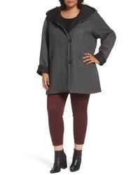 Hooded double face knit coat medium 4953264