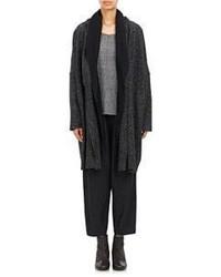 Pas De Calais Hooded Sweater Coat Black