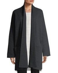 Eileen Fisher Recycled Cashmere Blend Double Knit Coat