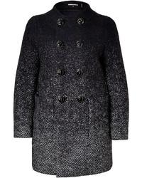 Dsquared2 Wool Herringbone Color Fade Coat