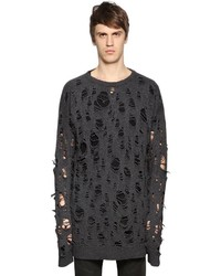 Diesel Oversized Destroyed Knit Wool Sweater
