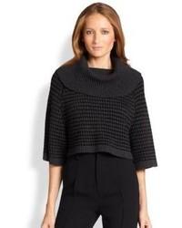 Cropped cowlneck pullover medium 97551