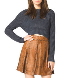 Michael Kors Cropped Knit Sweater Michl Kors