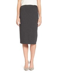 Charcoal Knit Midi Skirt