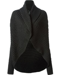 Black ribbed chunky cardigan medium 1362803