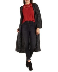 Charlotte Russe Marled Duster Cardigan Sweater