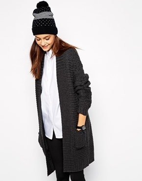 Only Chunky Knit Long Line Cardigan   Where to buy & how to wear