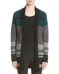 Collection engineered inlay stitch knit cardigan medium 4423637