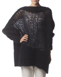 Acne Studios Oversized Knit Sweater Midnight Blue
