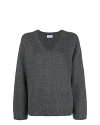 Prada Wide Sleeve V Neck Jumper