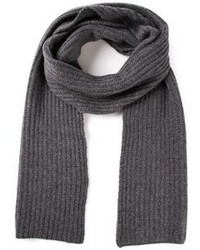 Charcoal Knit Scarf