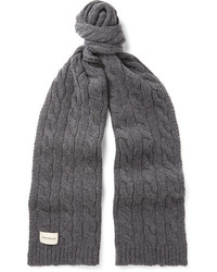 Oliver Spencer Arbury Cable Knit Wool Blend Scarf