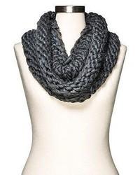 Merona Chunky Knit Infinity Neck Warmer Charcoal Heather Grey