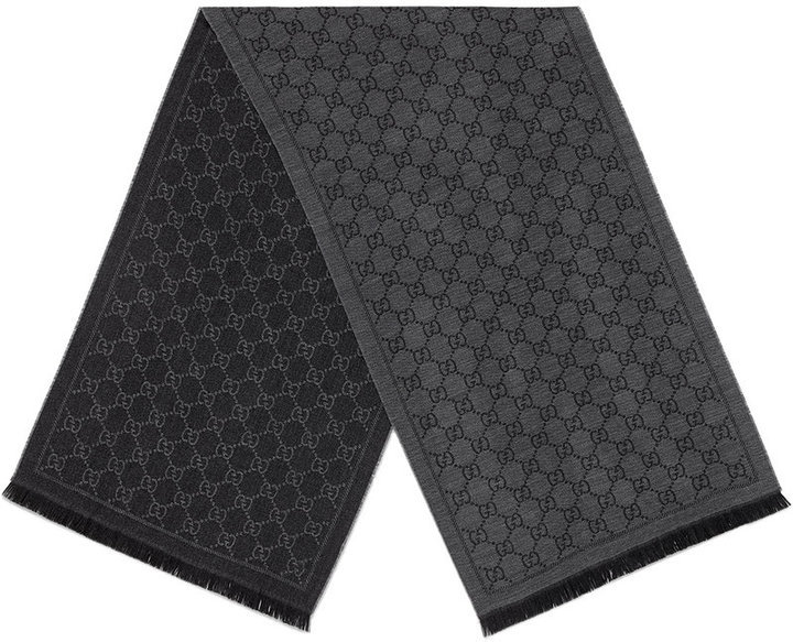6d52936a1 Gucci Gg Jacquard Pattern Knit Scarf, $246 | farfetch.com ...