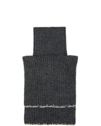 Maison Margiela Grey Wool And Mohair Neck Warmer Scarf