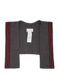 Maison Margiela Grey Wool Stripe Scarf