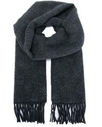 Knitted fringed scarf medium 387739