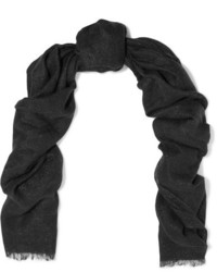 Metallic knitted scarf charcoal medium 5219917