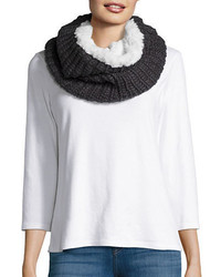 Modena Faux Fur Lined Knit Infinity Scarf