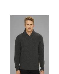 Ben Sherman Shawl Collar Cable Knit Sweater Sweater Chimney Marl
