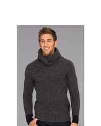 Scotch & Soda Twisted Shawl Yarn Pullover Sweater Charcoal Melange