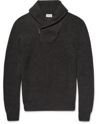 Brioni Shawl Collar Honeycomb Knit Cashmere Sweater