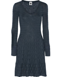 Crochet knit wool blend dress medium 318345