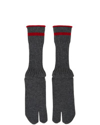 Maison Margiela Grey Knit Socks