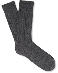 Hugo Boss Three Pack Ribbed Knit Socks
