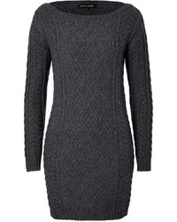Charcoal Knit Sweater Dress