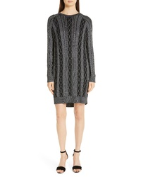 ATM Anthony Thomas Melillo Cable Knit Sweater Dress