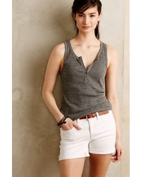 Anthropologie Lacausa Ribbed Henley Tank