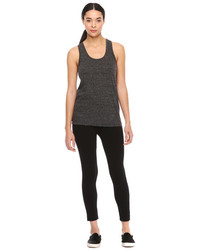 Joe Fresh Marled Racerback Tank Charcoal Mix