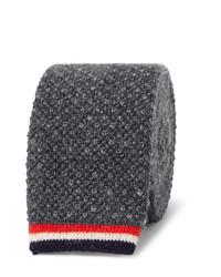 5cm knitted cashmere tie medium 814577