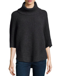 Charcoal Knit Turtleneck