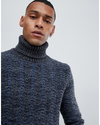 United Colors of Benetton Chunky Roll Neck Jumper With Wool Mix Texture